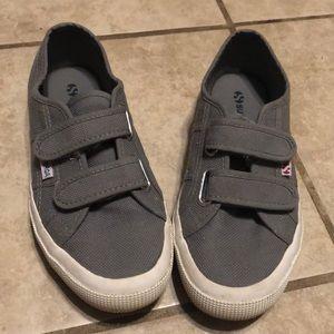 Gray Velcro  Superga sneakers